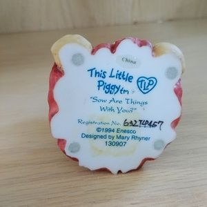 """Enesco Other - This Little Piggy """"Sow Are Things With You"""""""